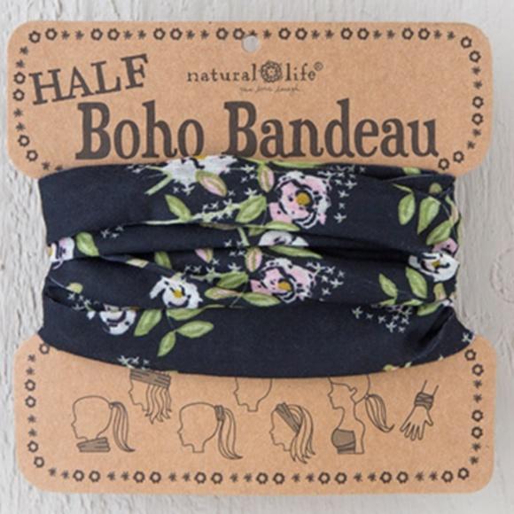 NATURAL LIFE Accessories - Floral Half Boho Bandeau
